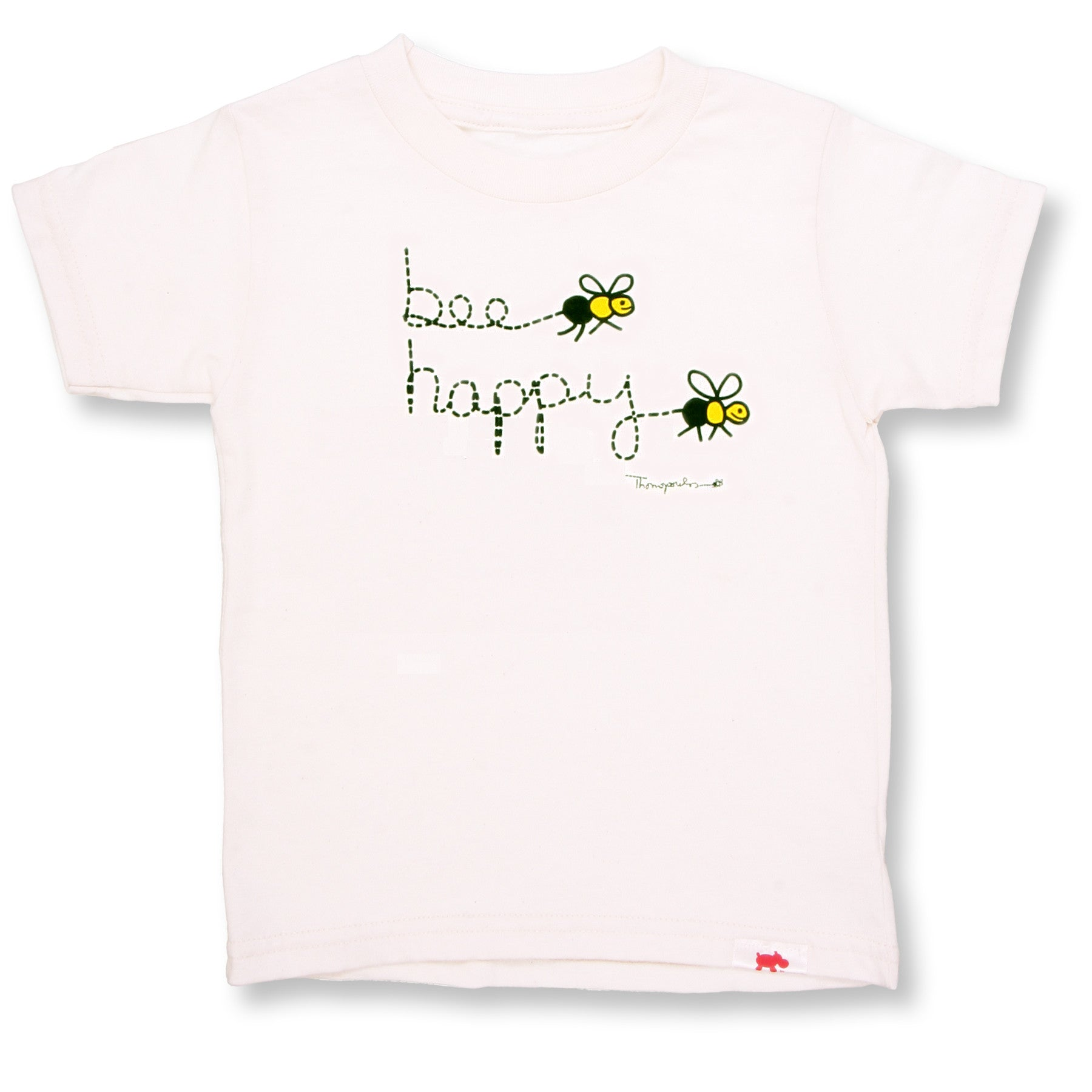 Bee Happy Organic Cotton Tee (double sided)
