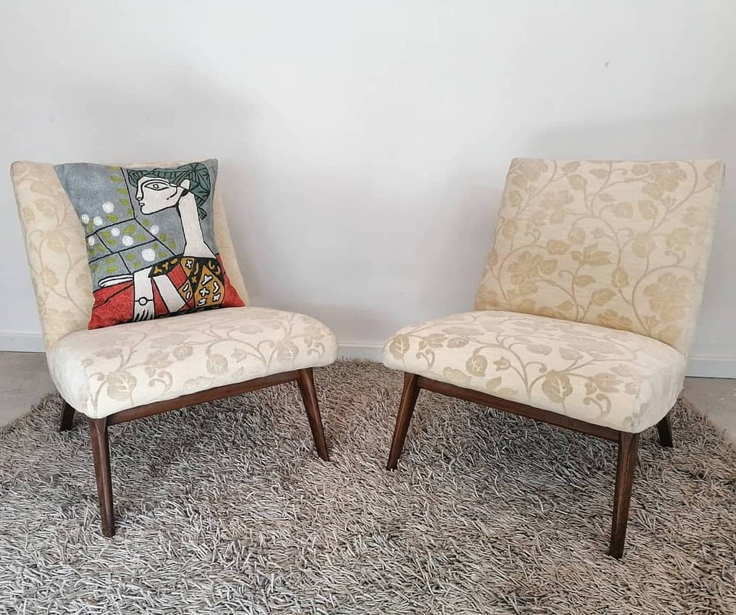 Pair of vintage Parker Knoll TV chairs available for reupholstery