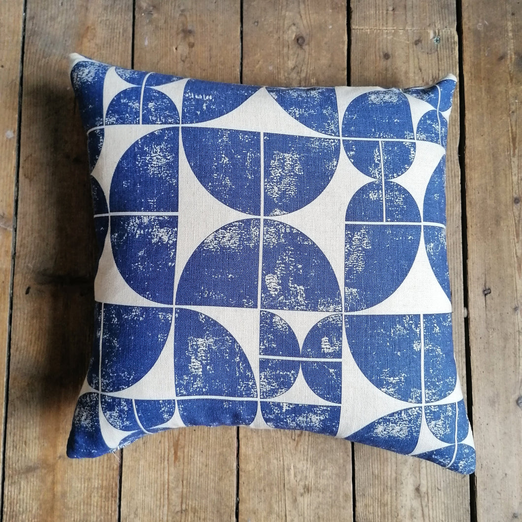 Cushion made from an Ian Mankin fabric called