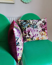 Load image into Gallery viewer, Stunning cushion made from jacquard velvet and gold fabric by Designers Guild called Martineau.