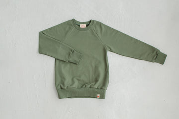Olive cotton sweatshirt