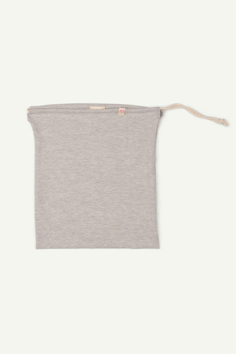 Grey Drawstring Bag