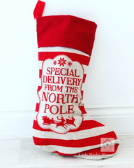 North Pole Christmas Stocking