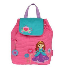 Princess Quilted Personalised Childrens Backpack