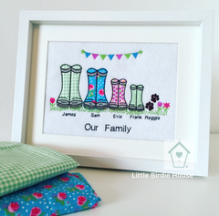 Personalised Wellies Family Frame