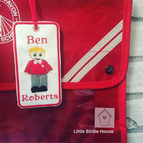 Personalised School Bag Tag