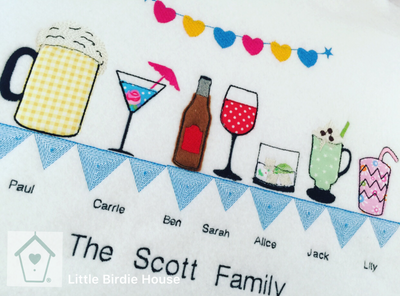 Personalised Drinks Family Frame