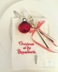 Personalised Family Christmas Napkin