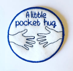 Iron On Pocket Hug Patch