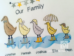 Personalised Ducks Family Frame