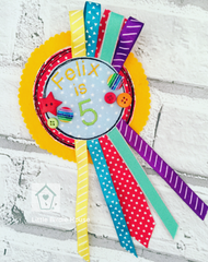 Personalised Birthday Rosette Badge