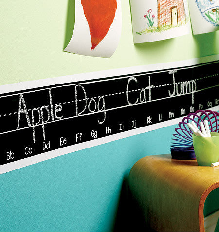 Alphabet Chalkboard Wall Stickers