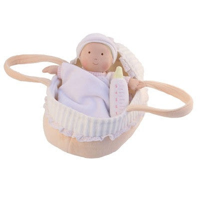 Personalised Baby Doll With Carry Cot, Blanket and Bottle