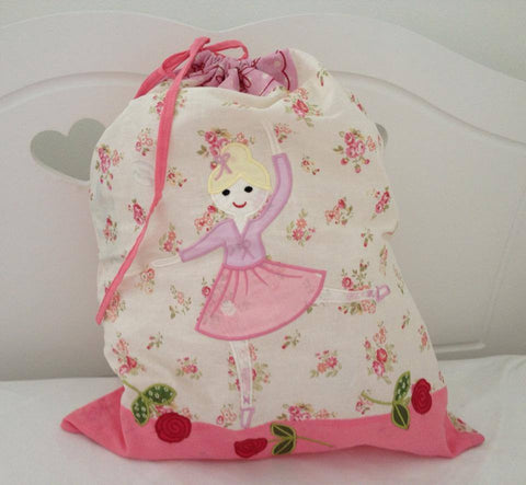 Ballerina Personalised Toy Bag