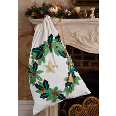 PRE ORDER Luxury Holly Wreath Christmas Sack