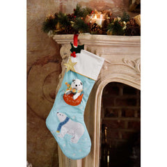 PRE ORDER Luxury Polar Bear Christmas Stocking