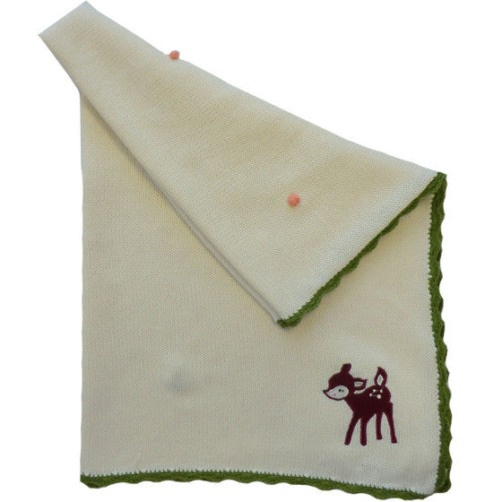 Woodland Deer Personalised Cot Blanket