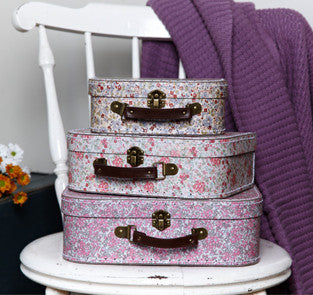 Set of 3 Cottage Garden Suitcases