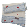 Boat Knitted Personalised Cot Blanket