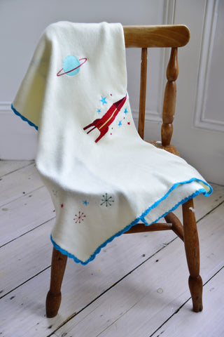 Space Pram Personalised Blanket