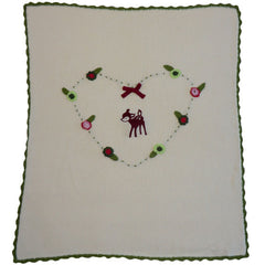 Woodland Deer Personalised Pram Blanket
