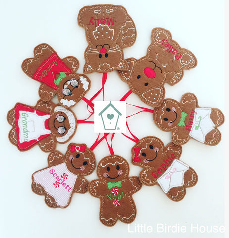 Personalised Gingerbread Tree Decoration