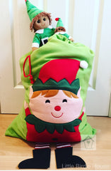 Personalised Elf Christmas Sack