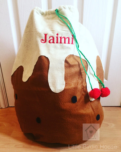 Personalised Christmas Pudding Sack