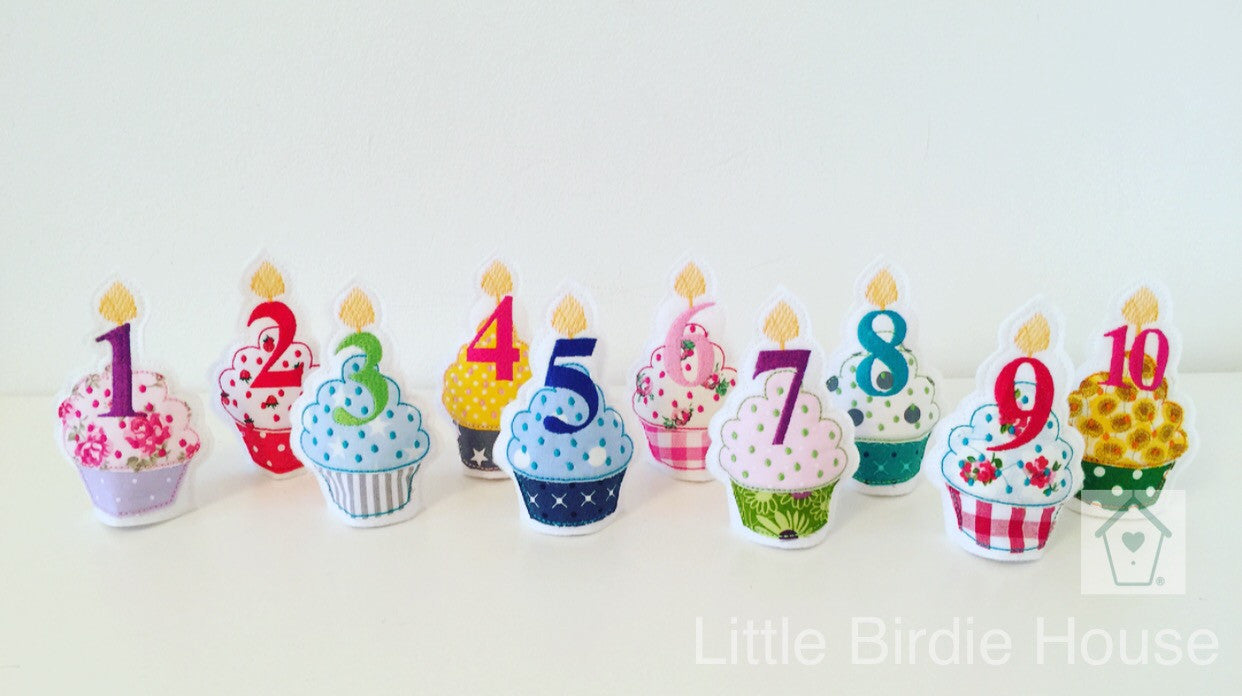 Personalised Birthday Cupcake Tea Light