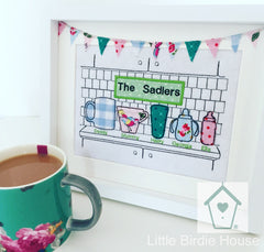 Personalised Tea Time Family Frame