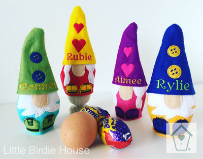 Personalised Gnome Egg Holder