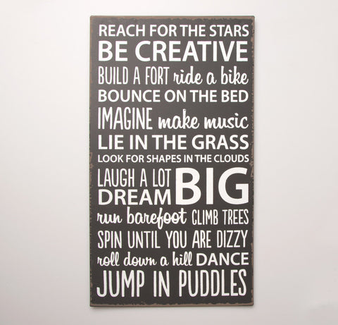Be Creative Plaque