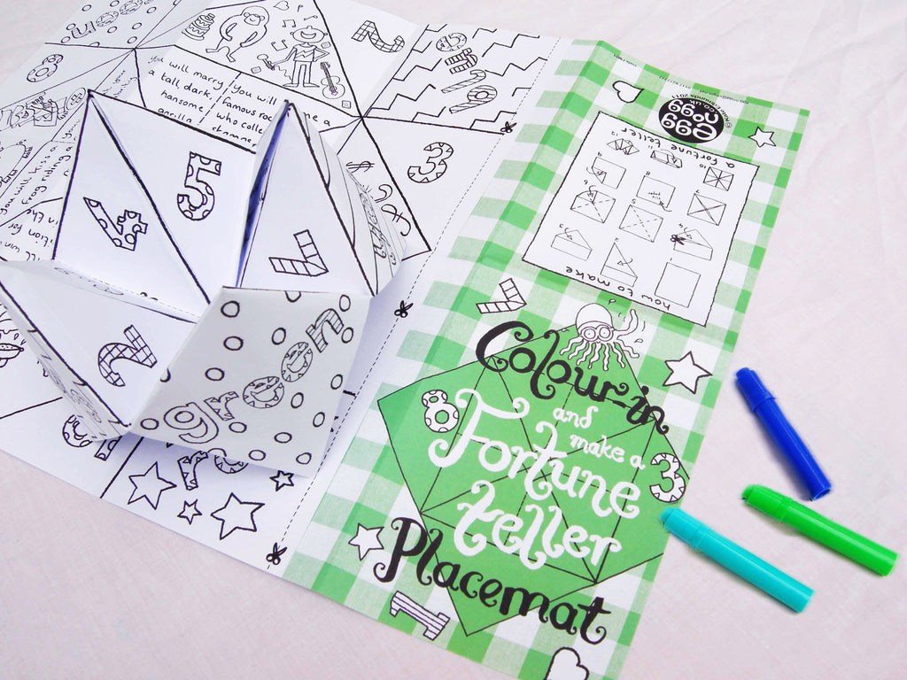 Set of 4 Fortune Teller Placemats | Little Birdie House