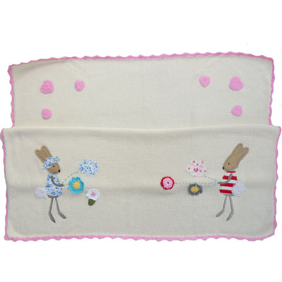 Rabbit Personalised Pram Blanket