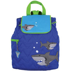Shark Quilted Personalised Childrens Backpack
