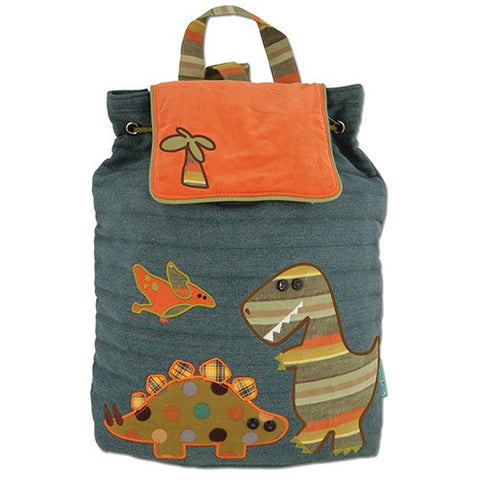 Dinosaur Luxury Quilted Personalised Childrens Backpack