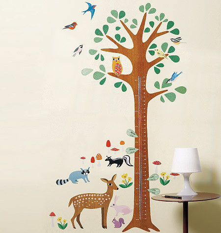 Woodland Growth Chart Wall Stickers Little Birdie House