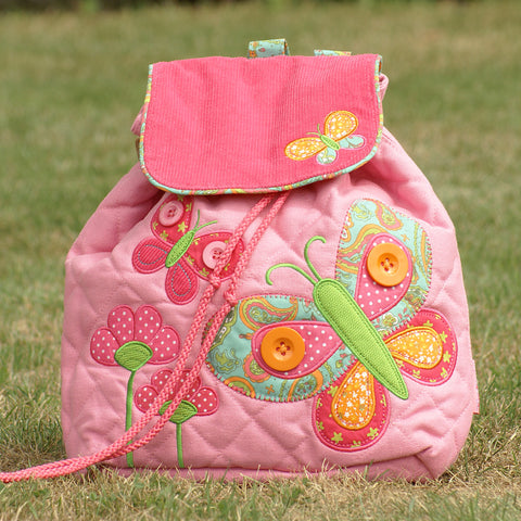 Butterfly Luxury Quilted Personalised Childrens Backpack