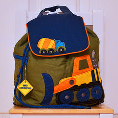 Digger Quilted Personalised Childrens Backpack