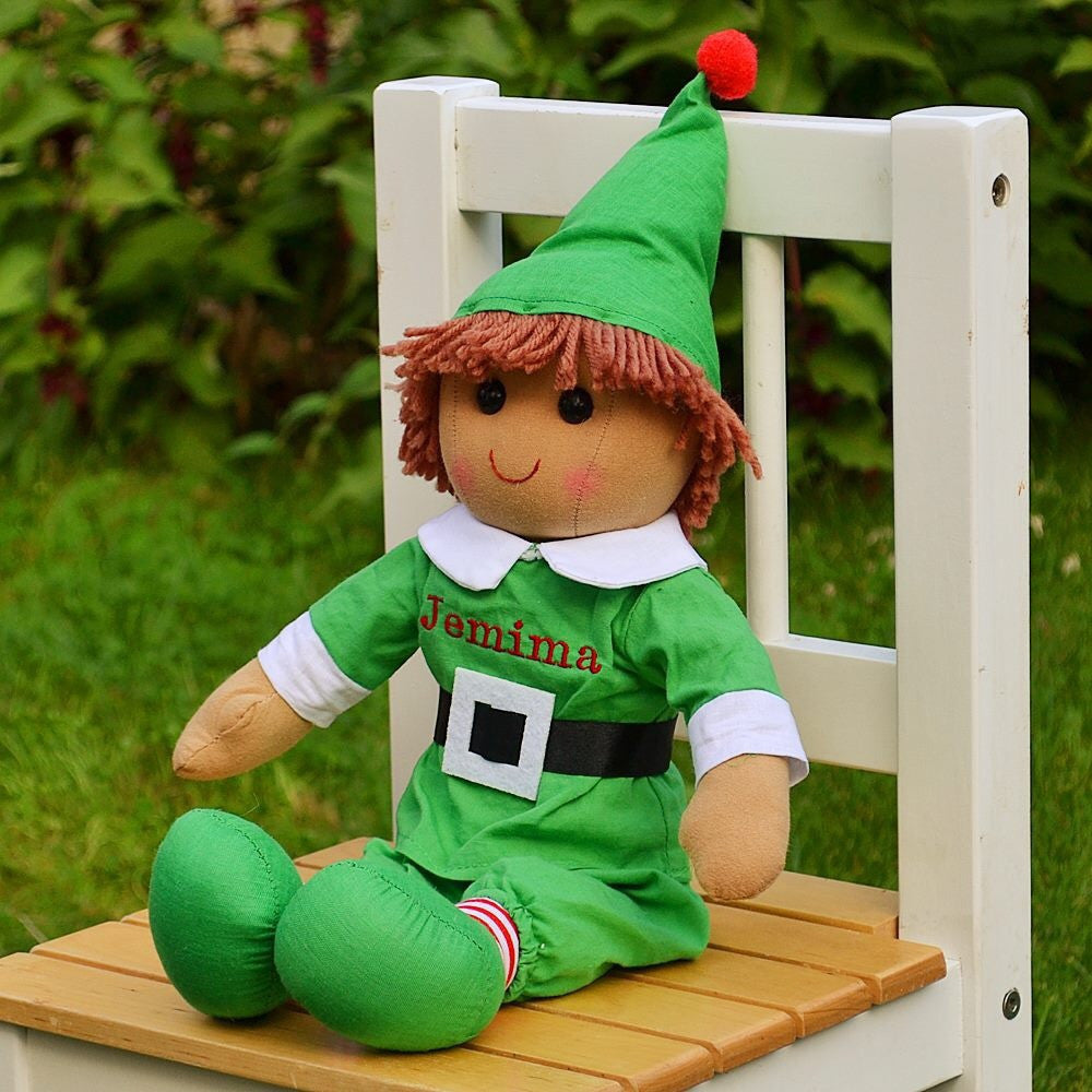 Buddy Elf Personalised Rag Doll
