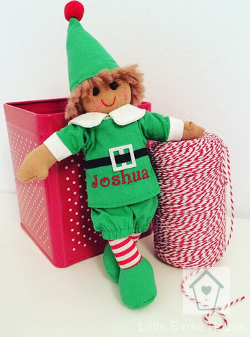 Mini Elf Personalised Rag Doll