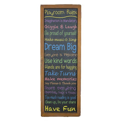Playroom Rules Plaque