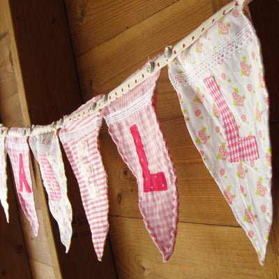 Fabric Applique Alphabet Bunting
