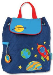 Planets Quilted Personalised Childrens Backpack