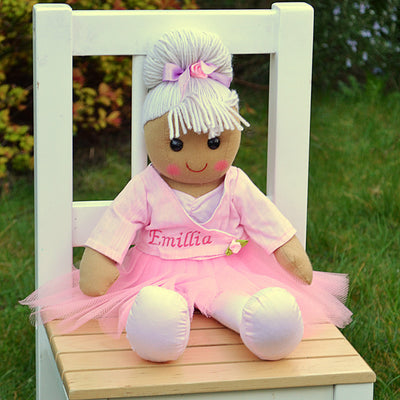 Darcy Ballerina Personalised Rag Doll