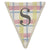 Fabric Printed Alphabet Bunting