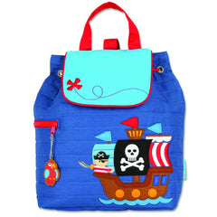 Pirate Quilted Personalised Childrens Backpack
