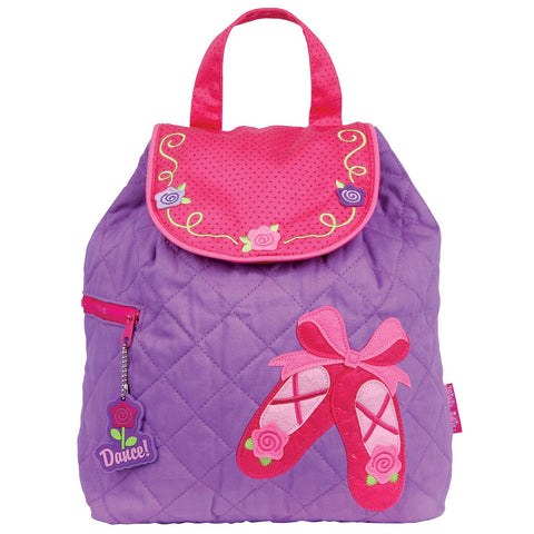 Ballet Shoes Quilted Personalised Childrens Backpack