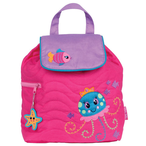 Jellyfish Quilted Personalised Childrens Backpack
