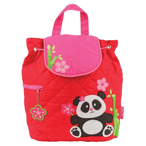 Panda Quilted Personalised Childrens Backpack